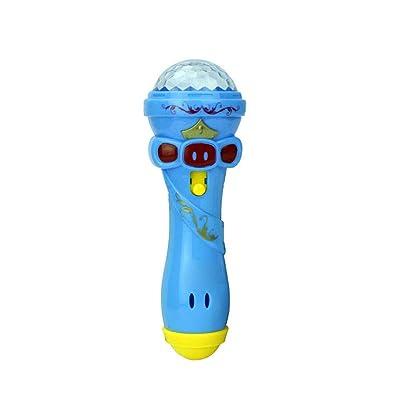 Owill Kids Karaoke Machine Girls Karaoke Microphone Toys Portable Singing Machine for Girls Hot Funny Lighting Wireless Microphone Model Gift Music Karaoke (Blue): Toys & Games