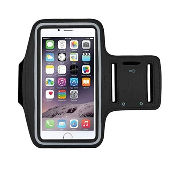Ling Running Workout Armband for iPhone X, Xs, 8, 7, 6, 6S, Samsung Galaxy, S8, S7, S6, A8 Phones , with Adjustable Elastic Straps and Keychains for ...