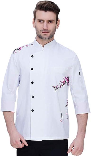 Pinji Chaqueta Chef Unisex Camisa de Cocinero Manga Larga de Verano 3XL # 1: Amazon.es: Ropa y accesorios