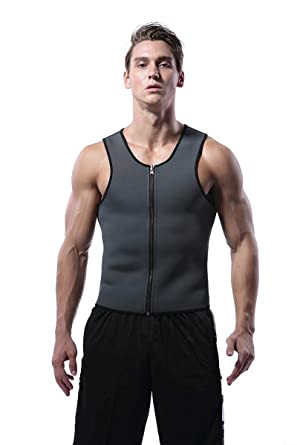 0714b12d8d HITSAN INCORPORATION Hot Shapers Slimming T-Shirt Neoprene Shaper Mens  Slimming Vest Body Shaper Corset