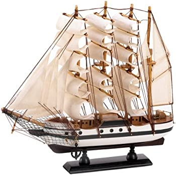 Gifts & Decor Passat Tall Ship Detailed Wooden Model Nautical Decor