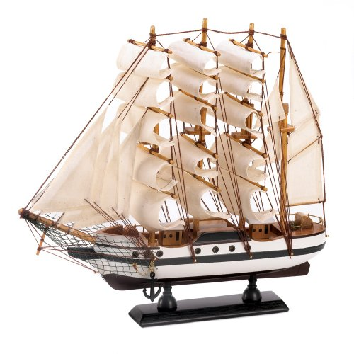 Gifts & Decor Passat Tall Ship Detailed Wooden Model Nautical ()