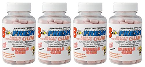 B-Fresh Bubble Gum Flavored Gum, 200 Sugar Free Pieces (Pack of 4) ()