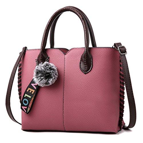 Female Ladies Women Pink Handbags Bags Handbags Messenger Casual Shoulder Fashion Fur PU Leather Tote Hand Bag Handbag Crossbody xfnwRqXxv