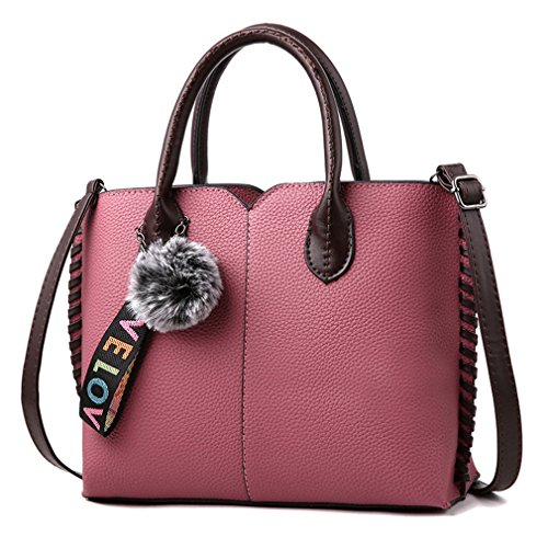 Casual Hand Female Bags Fashion Fur Crossbody Shoulder Leather Women Pink Handbags Messenger Tote Handbag PU Handbags Ladies Bag EXq6wCx