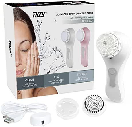 Facial Cleansing Brush Best Sonic Facial Brush Skin Cleansing Rechargeable Waterproof, Wireless Charging Face Brush for Deep Cleansing, Gentle Exfoliating, Removing Blackhead