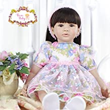 Pursue Baby Beautiful Soft Body Lifelike Princess Doll with Long Hair Charlotte, 24 Inch Real Life Weighted Toddler Girl Doll with Matching Outfits