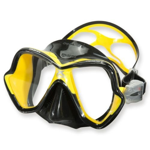 - Mares X-Vision Ultra Liquid Skin Dive Mask, Black/Yellow