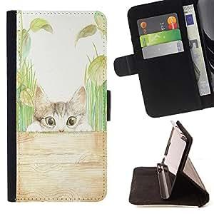 Jordan Colourful Shop - FOR Samsung Galaxy S6 - greeted with a smile - Leather Case Absorci¨®n cubierta de la caja de alto impacto