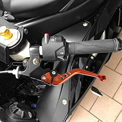Rawsomes Adjustable Brake Clutch Levers For KTM 390 Duke/RC390 2013-2020, 250 Duke 2020-2020, 200 Duke/RC200 2012-2020, 125 Duke/RC125 2014-2020 (Orange): Automotive