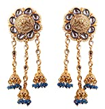 """Product review for Touchstone""""Devsena Bahubali Manikarnika Collection Indian Bollywood Designer Jewelry Earrings with Beads for Women in Antique Gold Tone"""