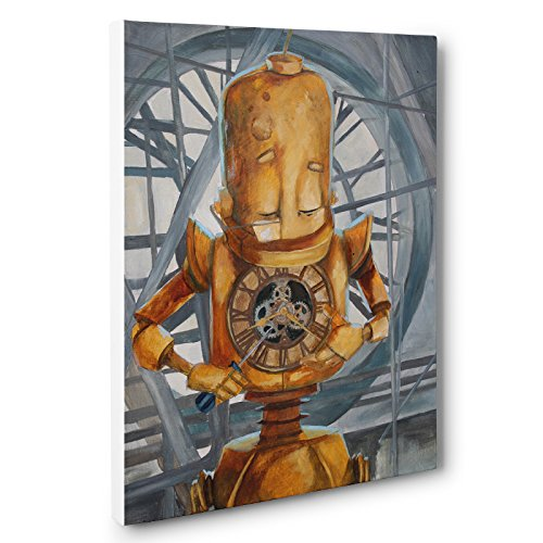 Mechanical Heart Bot Robots In Rowboats Canvas Art by Lauren Briere by Paper Blast