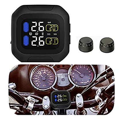 Amazon.com: CAREUD Motor TPMS Wirelss Moto Tire Pressure ...