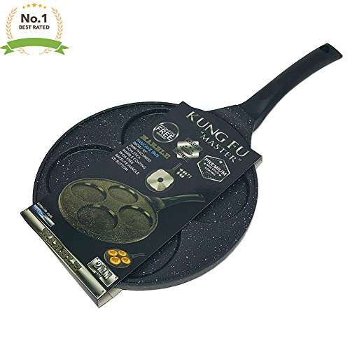 - Heavy Duty Premium 10 Inch Nonstick PFOA Free Marble Pancake Fried Egg & Blini Pan with Bakelite Handle