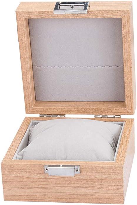 HKHJ Caja de Relojes, Estuche de Madera para Relojes Joyas con Almohadillas Extraíbles Caja de Almacenamiento de Relojes Soporte de Exhibición de Relojes para Guardar Pulseras o Relojes: Amazon.es: Deportes y aire