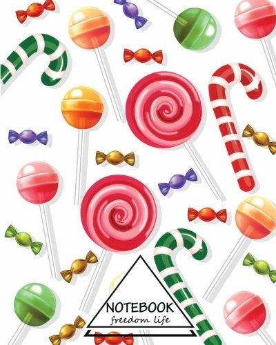 """Download Notebook: Dot-Grid,Graph,Lined,Blank No Lined : Christmas Candy : Pocket Notebook Journal Diary, 110 pages, 8"""" x 10"""" (Blank Notebook Journal) PDF"""