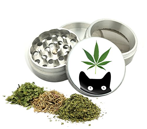 Weed-Cat-Design-42-mm-4Pcs-Small-Size-Grinder-Item-G42-8715-11