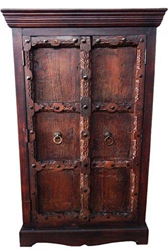 Indischer Schrank Kleiderschrank Wäscheschrank antik Brakar- 139cm ...