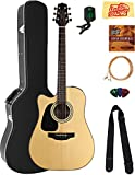 Takamine GD30CELHNAT Left-Handed Dreadnought Cutaway Acoustic-Electric Guitar - Natural Bundle with Hard Case, Cable, Tuner, Strap, Strings, Picks, Austin Bazaar Instructional DVD, and Polishing Cloth
