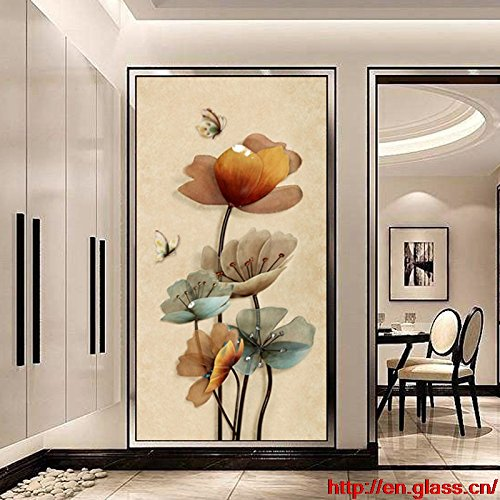 glass cabinet partition glass sculpture entrance passway crossing door