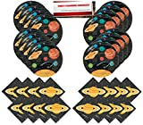 Outer Space Universe Planets Solar System Party Supplies Bundle Pack for 16 guests (Plus Party Planning Checklist by Mikes Super Store)