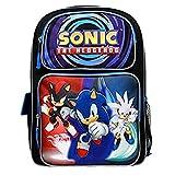 "Sonic the Hedgehog Blue 16"" Backpack Boys School Bag"