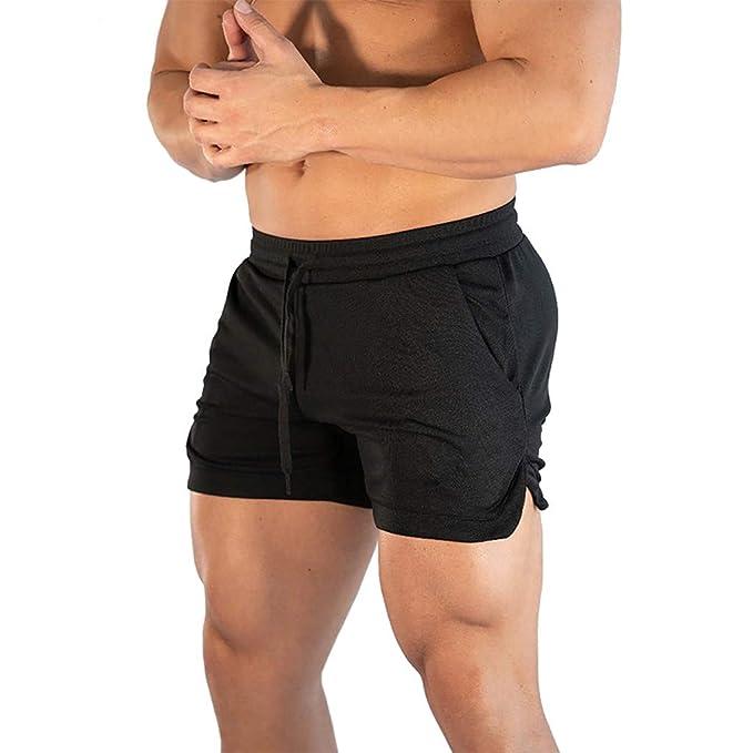 outlet store uk cheap sale best prices Men's Pure Color Multi-Pocket Overalls Leisure Shorts Pant ...