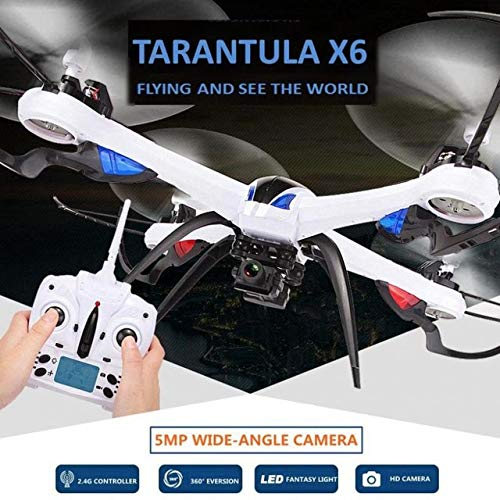 (DishyKooker Rc Drones with Camera Wide-Angle 5mp Camera Tarantula X6 Professional Drones Rc Quadcopter Flying Camera Helicopter Orange)