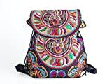 Changnoi Unique Backpack With Hmong Embroidered Handmade Thailand Fair Trade