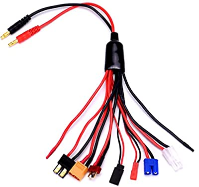 FPVDrone Multifunctional 9 in 1 Lipo Battery Multi Charge Cable Adapter Connector Banana Plug Convert XT60 Charge Cable Transfer Line RC Hobbies Accessories for TRX,JST,FUTABA ,T plug,XT60,EC3,TAMIYA