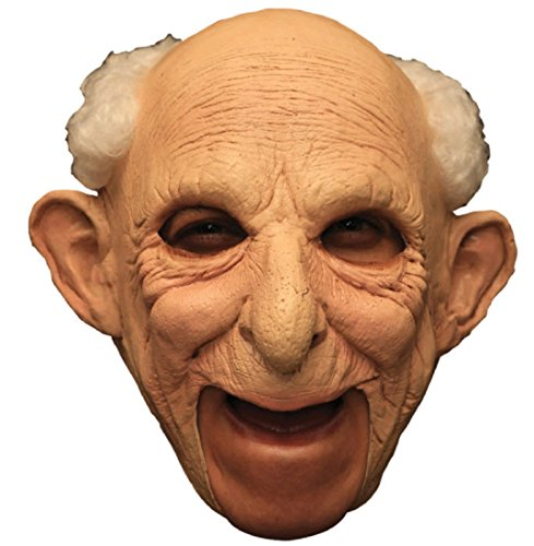 [Gus Deluxe Chinless Latex Mask Adult Accessory] (Old Man Halloween Mask)