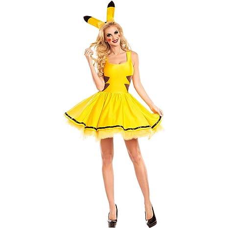 Traje de Cosplay, señoras de Halloween Animado Pikachu ...