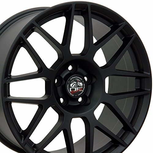 19x10/19x9 Wheels Fit Ford - Mustang Style Rims - Matte Black - SET