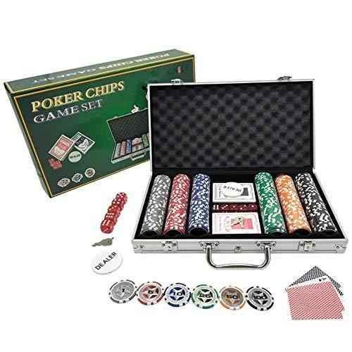 300 Pc Poker Chip Case - +Urbano Clay Poker Chips Set 300 PCS Heavy Duty 13.5 Gram Chips Texas Holder Cards Game Blackjack Gambling Chips with Aluminum Case (300 pcs) ...