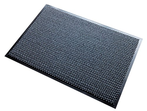 Guardian 64040665DS Diamond Series Dual-Purpose Indoor Floor Mat for Entrances and Common Walkways, 4' x 6', Black/Gray by Guardian