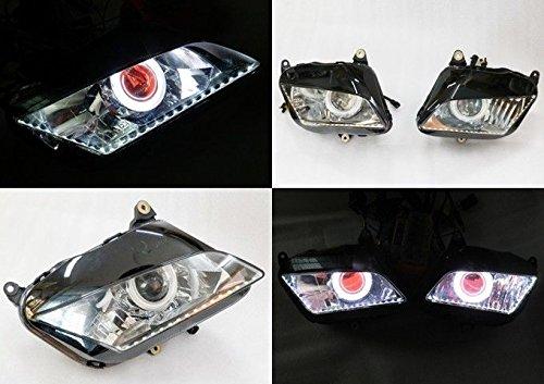Angel Eye HID Projector Demon Eye Headlight Assembly 2007-2012 Honda CBR600RR