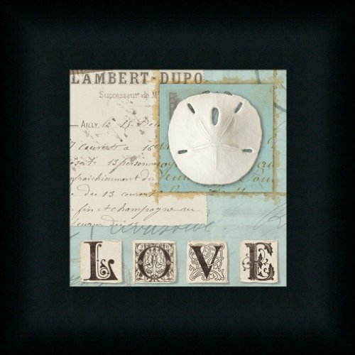 Beach-Journal-I-by-Wild-Apple-Portfolio-Sand-Dollar-Love-Sign-Art-Print-Framed