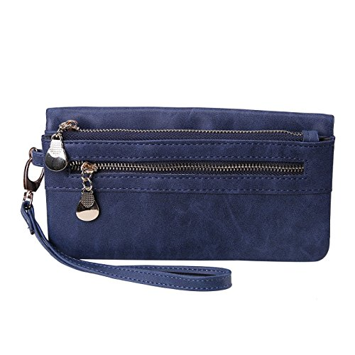 HDE Womens Leather Multi Function Wristlet