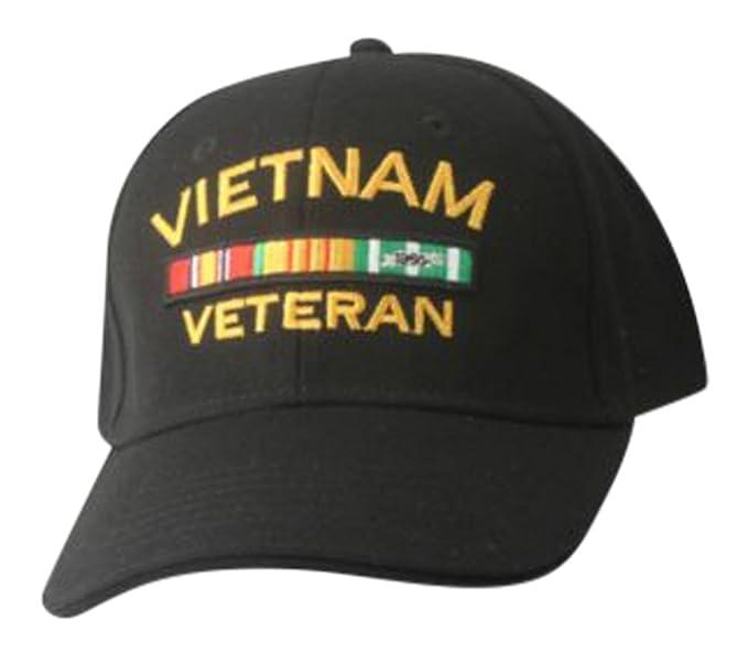 3ff9c1d37c9fc Image Unavailable. Image not available for. Color  Vietnam Veteran Hat-  Embroidered Black Vietnam Veteran Cap