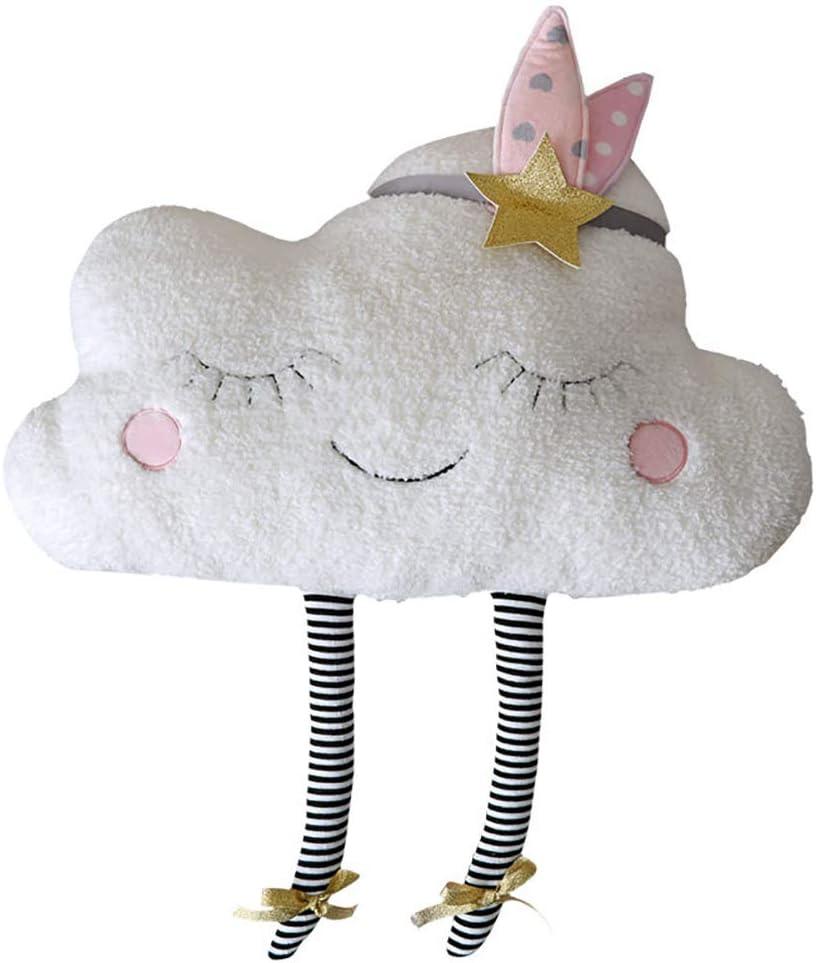 Almohadillas decorativas de almohada suave de felpa linda nube en forma de almohadas para niños