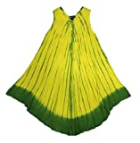 Tie Dye Yellow Sundress / Swimsuit cover up Hand Made In India One Size R32A