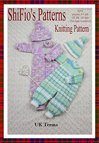 Knitting Pattern Kp38 Baby All In One Suit And Hat Preemie 0