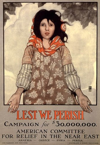 Lest We Perish American委員会アルメニアギリシャシリアPersia WarヴィンテージポスターキャンバスREPRO   B002JPVS00