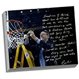 Syracuse Orangemen Boeheim Facsimile Cutting Down the Net Story Stretched 16x20 Story Canvas
