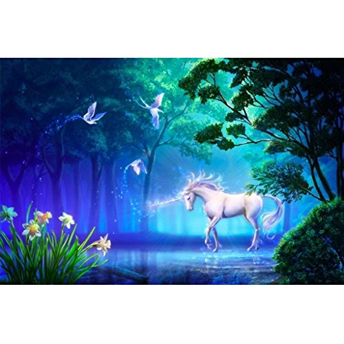 FORWIN US Puzzle House Unicorn in Forest,Perfect Splice Wooden Jigsaw Puzzle, Unique Cut 500/1000/1500 Pieces Box Challenge Painting Art Puzzles Game for Adults & Kids 504 (Size : 500pc) -