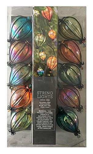 10ct Incandescent Teardrop Outdoor String Lights Multi-Colored - Opalhouse]()