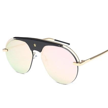 Occhiali da sole Retro occhiali da sole eleganti del grande metallo della struttura del metallo / occhiali da sole decorativi di modo occhiali ( Colore : F. ) rpi0tqz89