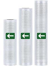 Sweetone Vacuüm voedsel sealer roll, 3 Pack Vacuüm Voedsel Sealer Rolls Tassen, rol voor vacuüm voedselsealer, 20cm x 3 meter/ 25cm x 3 meter/ 28cm x 3 meter