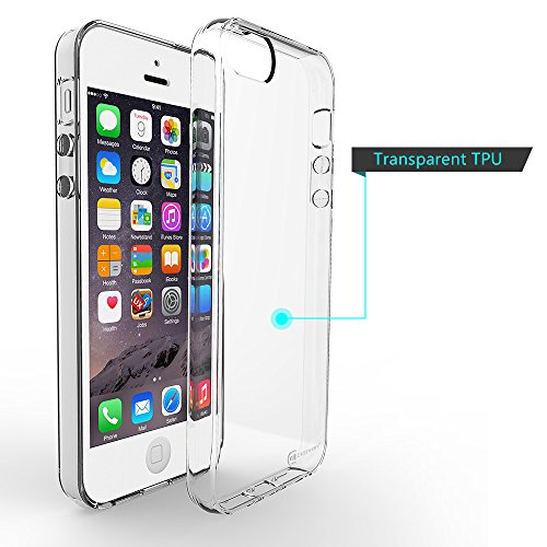 Apple iPhone 5 | 5S | 5G Case, Case Army® Scratch-Resistant Slim Clear Case for Apple iPhone 5 | 5S | 5G Silicone Crystal Clear Shock-Dispersion Technology Cover with TPU Bumper (Limited Lifetime Warranty)