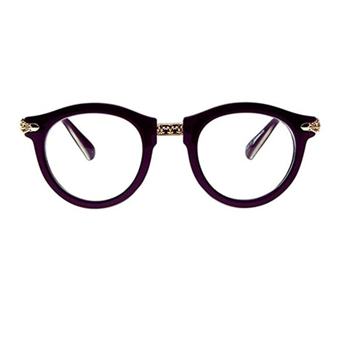 c215fae495a Image Unavailable. Image not available for. Color  Retro Fashion Round  Glasses Frames for Men and Women- Dark Brown